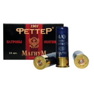 Патрон охотничий магнум 12 калибра дробь №5 44г (Феттер)
