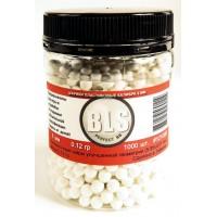 Шарики пластиковые BLS 0,12г (белые) (1000шт.) к.6мм