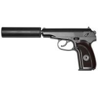 Пистолет GALAXY G.29A с глушителем Air Soft к.6мм (пружин.) (ПМ) (50-60 м/с)