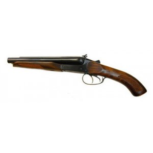 """Двуствольный травматический пистолет  МР-341 """"Хауда"""" с рукояткой и цевьем из ореха"""