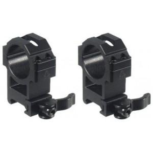 Кольца быстросъемные Leapers UTG 30 мм на weaver, высокие (RQ2W3224)