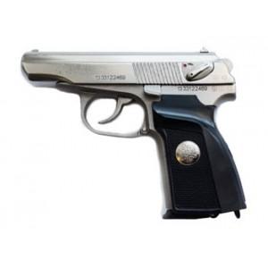 Травматический пистолет МР-80-13Т никелированный с гербом