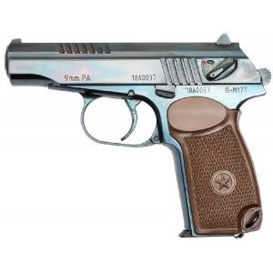 Травматический пистолет П-М17Т полированный
