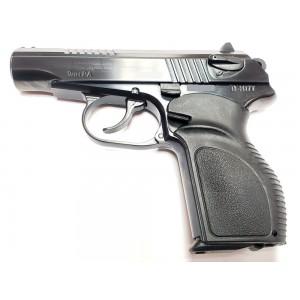Травматический пистолет П-М17Т полированный с рукояткой Дозор